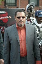 Laurence Fishburne looks calm as he heads down the red carpet.