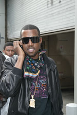 Kanye West maybe getting a Mission Impossible call as he heads towards the red carpet to greet fans.