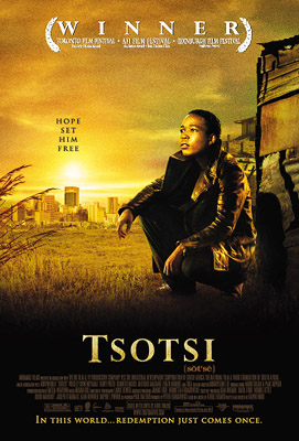 The movie poster for Miramax Films' Tsotsi