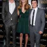 Liam Hemsworth, Jennifer Lawrence and Josh Hutcherson at NYC screening
