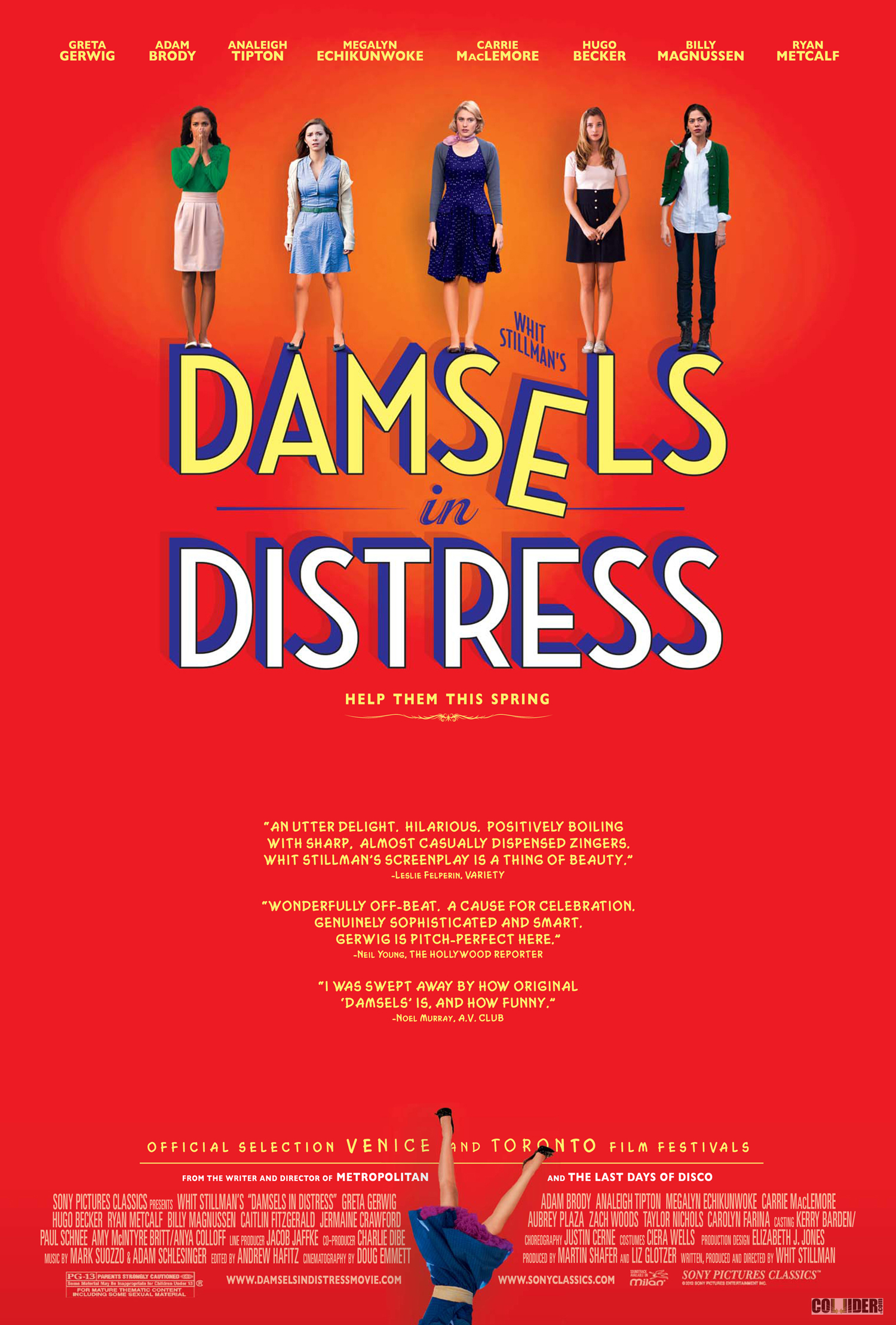 damsel in distress Whit stillman's damsels in distress is a comedy about a trio of beautiful girls as they set out to revolutionize life at a grungy american university - the dynamic leader violet wister (greta gerwig), principled rose (megalyn echikunwoke) and sexy heather (carrie maclemore) they welcome transfer student lily (analeigh tipton) into their group which seeks to help severely depressed students with a program of good hygiene and musical dance numbers the girls become romantically entangled with.