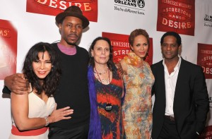 Streetcar Afterparty - Daphne Rubin-Vega, Wood Harris, director Emily Mann, Nicole Ari Parker, Blair Underwood 2