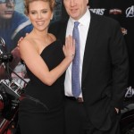 The Avenger Premiere - Scarlett Johansson and Kevin Feige