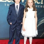 Les Miserables NY Premiere - Daniel Huttlestone and Isabelle Allen