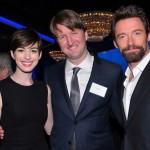 Les Miz Oscar luncheon Anne Hathaway Tom Hooper Hugh Jackman