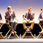 Les Miz pic 2 – Samantha Barks, Amanda Seyfried, Tom Hooper, Eddie Redmayne, Anne Hathaway and moderator Annette Insdorf