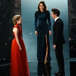 Oscars 2013 - Amanda Seyfried, actress Samantha Barks and Eddie Redmayne