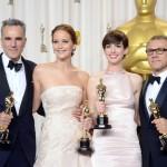 Oscars 2013 - Daniel Day-Lewis, Jennifer Lawrence, Anne Hathaway, Christoph Waltz