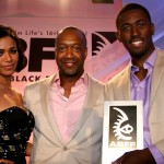 ABFF 2012 Star Project winners Sherial McKinney and Robert Hunter with ABFF Founder Jeff Friday