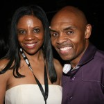 ABFF red carpet host Reggie Ponder and friend Carol