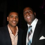 Allan Houston and Magic Johnson