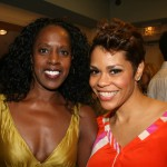 April Woodard and friend