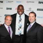 Brad Siegel, Earvin Magic Johnson and Charley Humbard