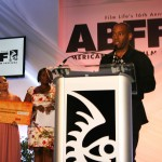 Cherry Waves director Carey Williams accepting ABFF 2010 award for Best Short Film