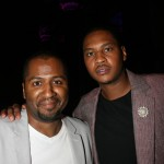 Director Malcolm D. Lee and NBA player Carmelo Anthony