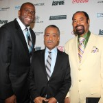 Earvin Magic Johnson, Rev Al Sharpton and Walt Clyde Frazier