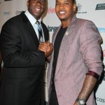 Earvin Magic Johnson and NY Knicks Carmelo Anthony