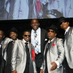 Earvin Magic Johnson with New Edition