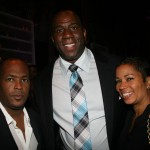Ed Woods, Magic Johnson, Gwen Niles