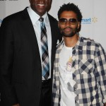 Magic Johnson and Eric Benet
