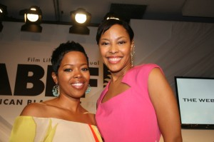 Malinda Williams and Tracey Heggins