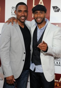 Middle of Nowhere LAFF premiere - Kent Faulcon and Omari Hardwick