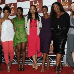 Middle of Nowhere LAFF premiere - Omari Hardwick, Angela Bassett, Edwina Findley, director Ava DuVernay, Emayatzy Corinealdi, Lorraine Toussaint and Sharon Lawrence