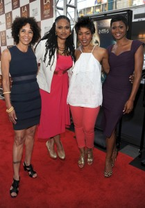 Middle of Nowhere LAFF premiere - Stephanie Allain, Ava DuVernay, Angela Bassett, and Emayatzy Corinealdi