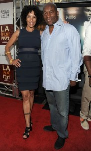 Middle of Nowhere LAFF premiere - Stephanie Allain and John Singleton