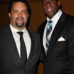 NAACP CEO Benjamin Todd Jealous and Earvin Magin Johnson