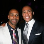 Omari Hardwick and BET host T.J. Holmes