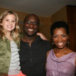 Raising Izzie's Kyla Kenedy, director Roger Bobb, and Vanessa Williams