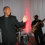 Robert Townsend singing with band