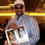 Russ Parr with his two ABFF awards