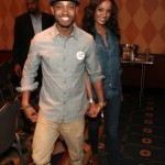 Terrence J. and Model Selita Ebanks