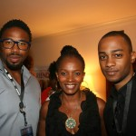 The Last Fall director Matthew A. Cherry, Vanessa Bell Calloway, and Michael Moss