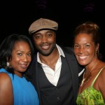 WABC-TV Eyewitness News reporter Sandra Bookman, NFL great Curtis Martin, WABC-TV Eyewitness News reporter Kimberly Richardson