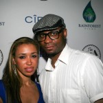 actress Georgianna Dowe and Pause director Melvin James