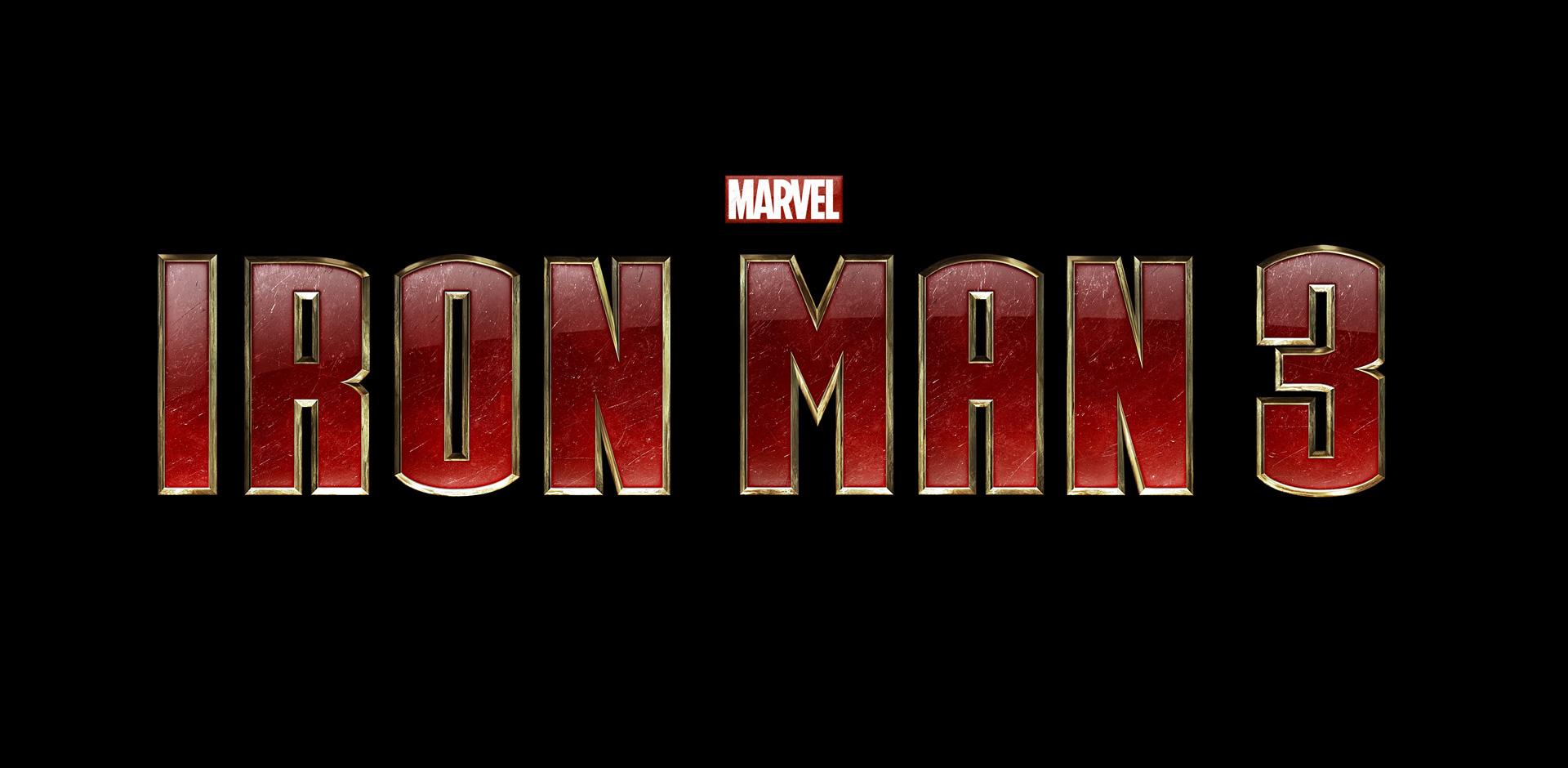 Iron Man 3 logo - blackfilm.com/read   blackfilm.com/read