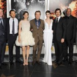 The Dark Knight Rises premiere - Christopher Nolan, Tom Hardy, Marion Cotillard, Gary Oldman, Anne Hathaway, Christian Bale, Morgan Freeman and Joseph Gordan-Levitt
