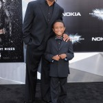 The Dark Knight Rises premiere - Hines Ward, Jaden Ward