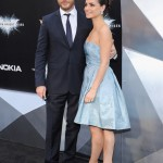 The Dark Knight Rises premiere - Tom Hardy and Sara Ward