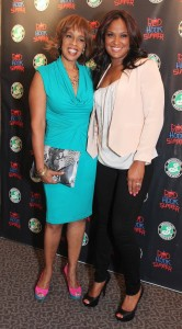 Gayle King and Laila Ali