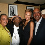Lillian Lewis, Spike Lee, Tanya Lewis Lee, and George Lewis