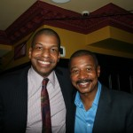 Shubert Organization's Director of Real Estate and Special Projects Julio Peterson and Robert Townsend
