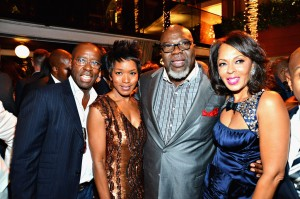 Sparkle LA Premiere Afterparty - Courtney B. Vance, Angela Bassett, T.D. Jakes, Debra Martin Chase