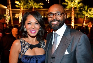 Sparkle LA Premiere Afterparty - Debra Martin Chase and Salim Akil