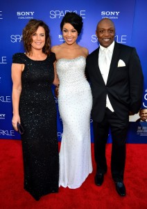 Sparkle LA Premiere - Jodi Wiedemann, Jordin Sparks, Phillippi Sparks 2