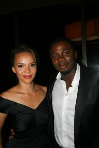 Sparkle NY afterparty - Carmen Ejogo and Derek Luke