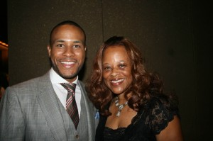 Sparkle NY afterparty - DeVon Franklin and his mom